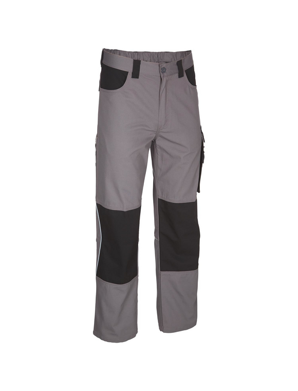 SAFETY AND MORE Arbeitshose EXTREME Polyester/Baumwolle grau/schwarz Gr. XL