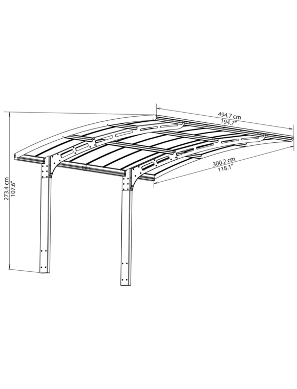 TEPRO Carport »Arizona«, BxT: x494,7 cm