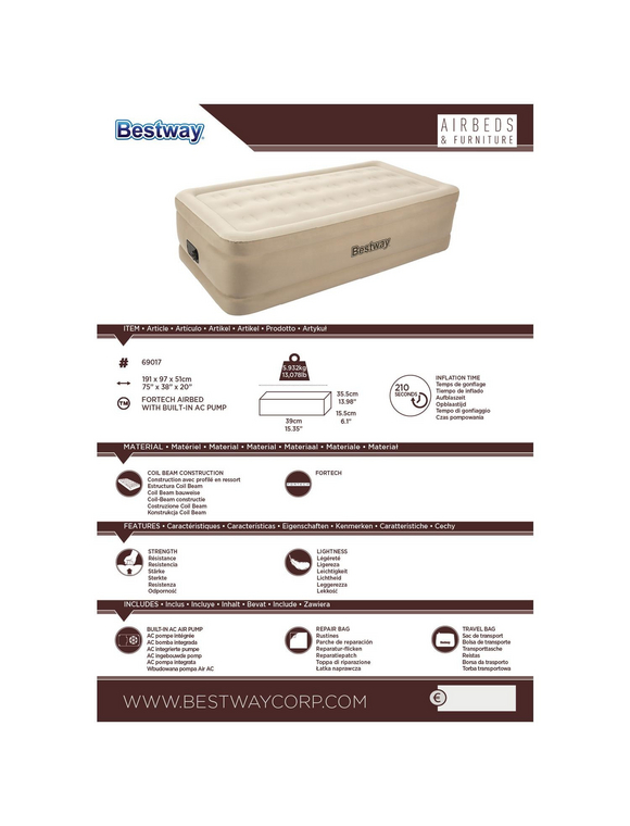 BESTWAY Luftbett »Essence«, 1 Person