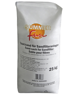 SUMMER FUN Quarzsand aus Sand, 0,4 - 0,8 mm, 25 kg