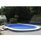 Ovalpool Set , oval, BxLxH: 500 x 900 x 150 cm