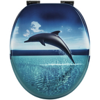 WC-Sitz »Dolphin Dream «, Holzkern, oval mit Softclose-Funktion
