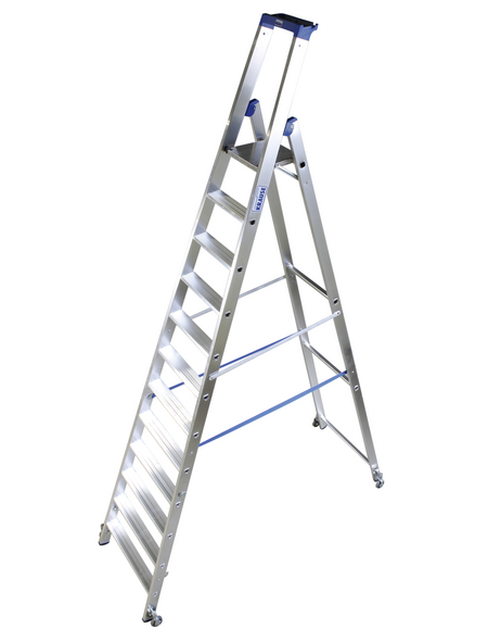 Stufen-Stehleiter »STABILO«, Anzahl Sprossen: 12, Aluminium | Baumarkt > Leitern und Treppen > Stehleiter | KRAUSE
