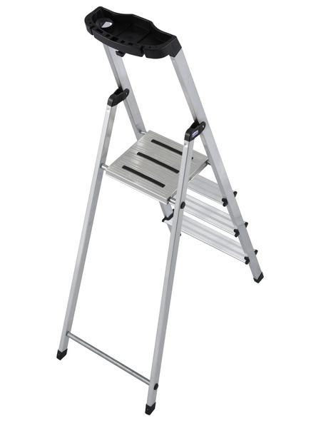Stufen-Stehleiter »MONTO«, Anzahl Sprossen 4 | Baumarkt > Leitern und Treppen > Stehleiter | Aluminium | KRAUSE