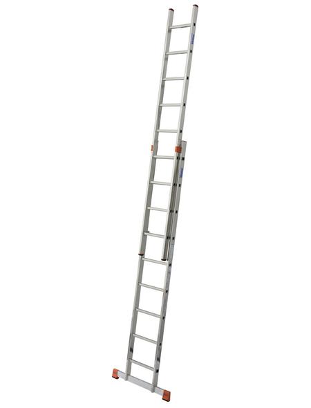 Schiebeleiter »MONTO«, Anzahl Sprossen: 18, Aluminium | Baumarkt > Leitern und Treppen > Schiebeleiter | KRAUSE