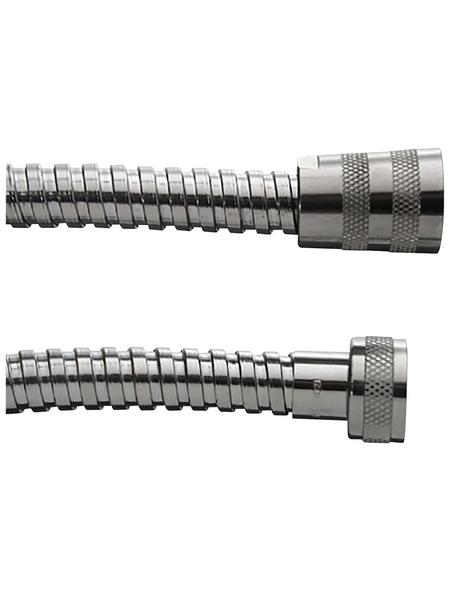 Duschbrausenschlauch »Brauseschlauch Metall verchromt, Länge 2«, Kunststoff | Bad > Armaturen > Brauseschläuche | Kunststoff | WELLWATER