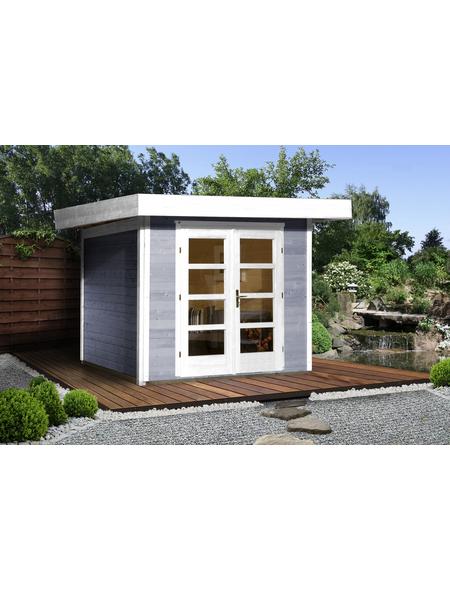Gartenhaus »Designhaus 126 Gr.3«, BxT: 356 x 375 cm (Aufstellmaße), Flachdach