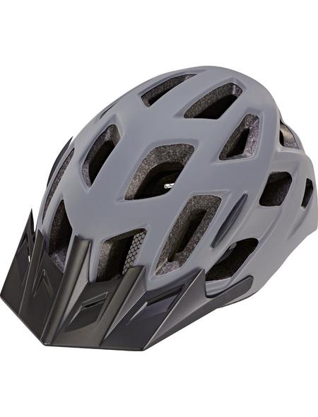 Fahrradhelm, 58 - 61 cm, grau/schwarz