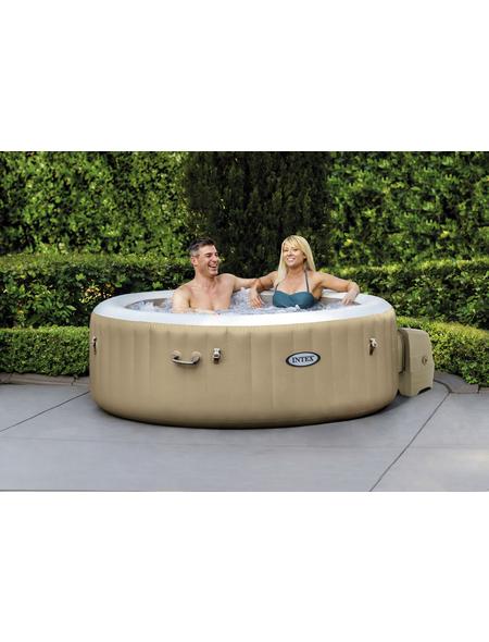 Whirlpool »PureSpa Bubble Massage«, ØxH: 196 x 50,8 cm, braun, 4 Sitzplätze
