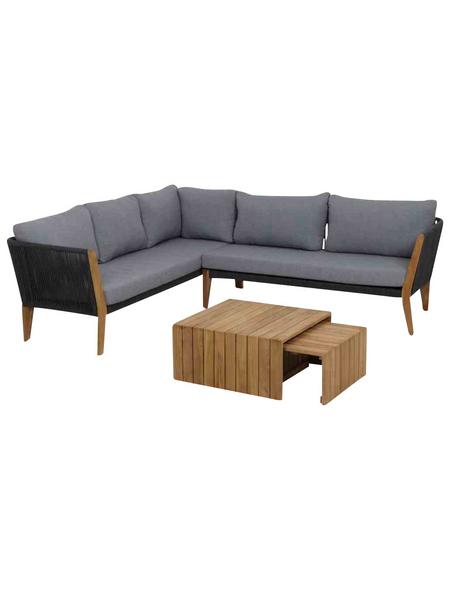 Loungeset, 5 Sitzplätze, inkl. Auflagen