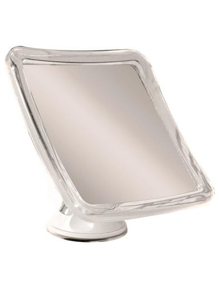 Kosmetikspiegel Quadratisch | Bad > Bad-Accessoires > Kosmetikspiegel | Weiß | Glas | KRISTALLFORM