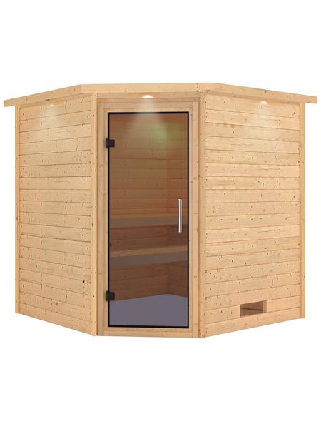 Sauna »Nina«, BxTxH: 224 x 210 x 202 cm, ohne Saunaofen | Bad > Sauna & Zubehör > Saunaöfen | WOODFEELING