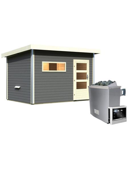 Saunahaus, B x T: 337 x 231 cm, mit Ofen, externe Steuerung | Baumarkt > Bad und Sanitär | KARIBU