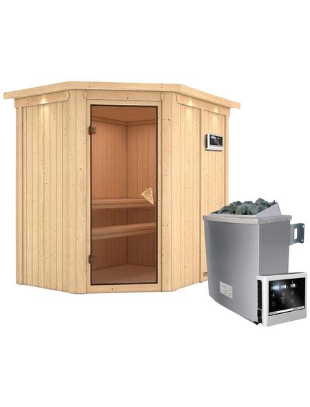 Sauna »Vijandi«, BxTxH: 165 x 210 x 210 cm, 9 kw, Saunaofen, ext. Steuerung | Bad > Sauna & Zubehör > Saunaöfen | KARIBU
