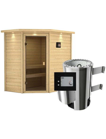 Sauna »Baldohn« mit Ofen, externe Steuerung | Bad > Sauna & Zubehör > Saunen | KARIBU