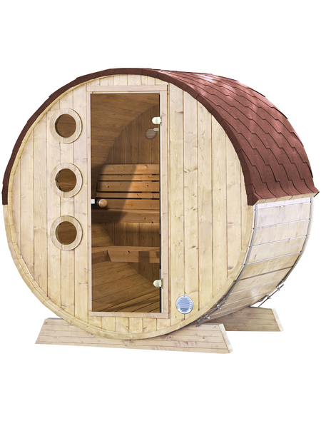 Fasssauna »Mini«, Fichtenholz, beige, 3 Personen | Bad > Sauna & Zubehör | WOLFF FINNHAUS