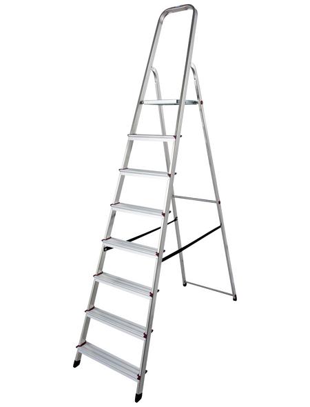 Stufen-Stehleiter »CORDA«, Anzahl Sprossen 8 | Baumarkt > Leitern und Treppen > Stehleiter | KRAUSE