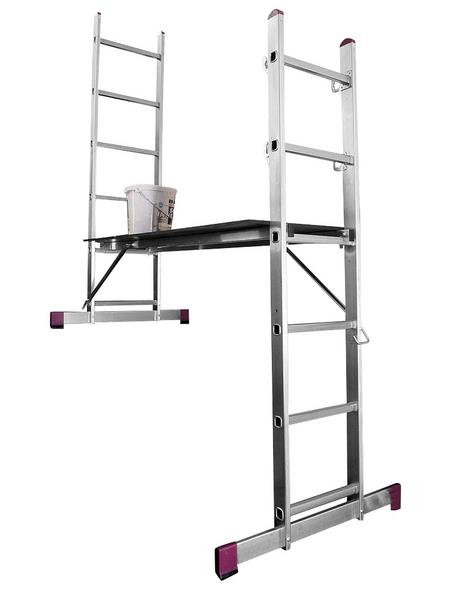 Leiterngerüst »CORDA«, 168 cm Gerüsthöhe | Baumarkt > Leitern und Treppen > Leitergerüst | KRAUSE