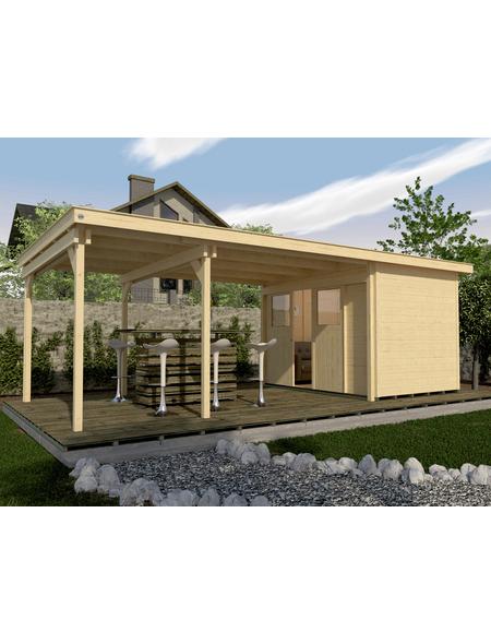 Gartenhaus »Lounge-Haus 225 B Gr.2«, BxT: 766 x 336 cm (Aufstellmaße), Flachdach