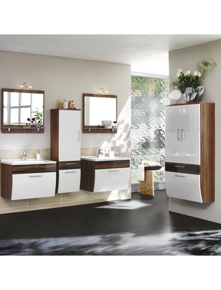 Kosmetikspiegel »SALONA« | Bad > Bad-Accessoires > Kosmetikspiegel | Braun | Holz - Milchglas | POSSEIK