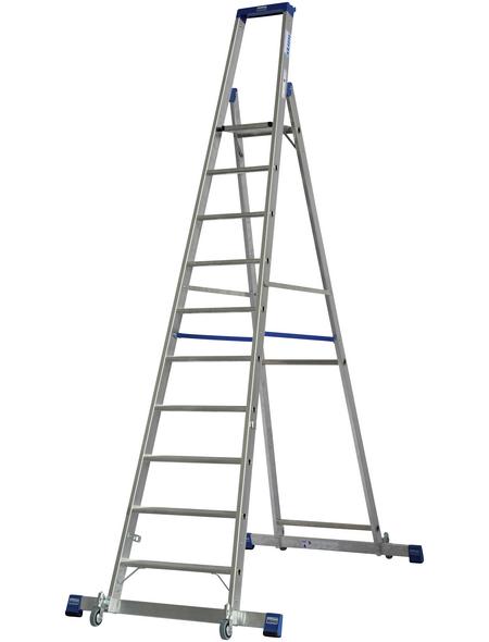 Stufen-Stehleiter »STABILO«, Anzahl Sprossen: 10, Aluminium | Baumarkt > Leitern und Treppen > Stehleiter | KRAUSE