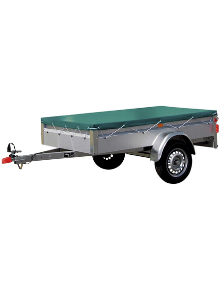 Anhänger-Flachplane, Länge: 251 cm, Kunststoff (PVC)