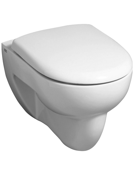 Wand WC »Renova«, Flachspüler, weiß, mit Spülrand   Bad > WCs > WC-Becken   GEBERIT