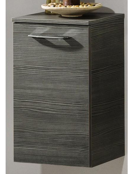 Badunterschrank »Vadea«, B x H x T: 35,5 x 32 x 59 cm rechts | Küche und Esszimmer > Küchenschränke > Küchen-Unterschränke | Grau | Spanplatte - Metall - Hochglänzend - Glänzend | Fackelmann