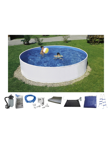 Rundpool , rund, Ø x H: 360 x 90 cm | Garten > Swimmingpools > Schwimmbecken | MYPOOL