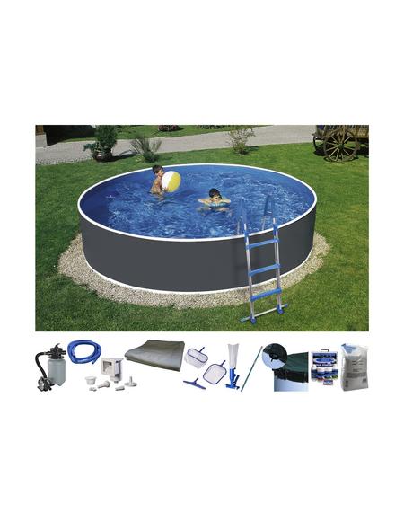 Rundpool,  rund, Ø x H: 460  x 110 cm | Garten > Swimmingpools | Hagebau
