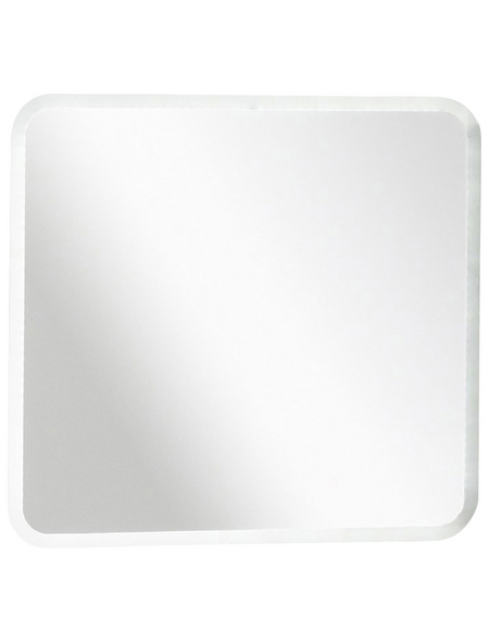 Kosmetikspiegel »Sceno«, beleuchtet, BxH: 80 x 73 cm   Bad > Bad-Accessoires > Kosmetikspiegel   Weiß   Fackelmann