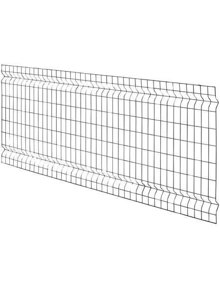 FLORAWORLD 3D-Felder-Zaunmatte, HxL: 80 x 200 cm, anthrazit