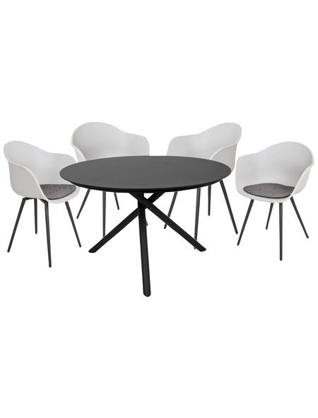 Gartenmöbelset »Kendra/Zara«, 4 Sitzplätze