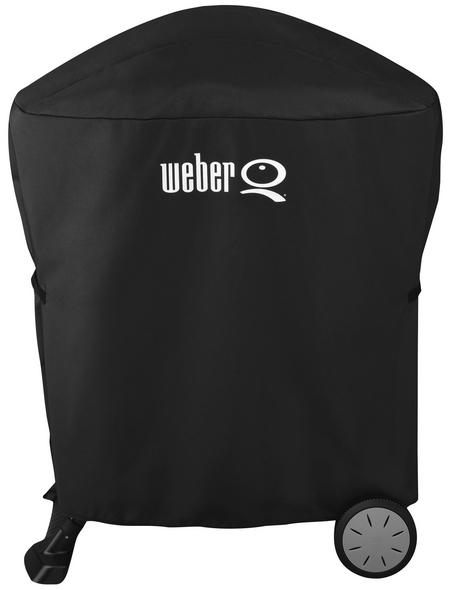 WEBER Abdeckhaube für Weber Q 100-/1000- und 200-/2000-Serie, schwarz