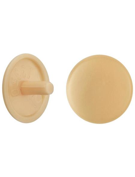 GECCO Abdeckkappe, Polyethylen, eiche hell, Ø 12 mm, 20 St.