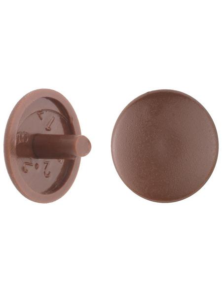 GECCO Abdeckkappe, Polyethylen, mahagoni, Ø 12 mm, 20 St.
