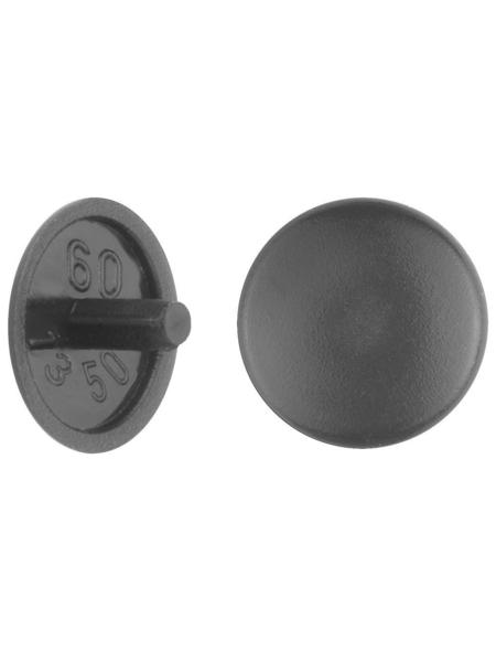 GECCO Abdeckkappe, Polyethylen, schwarz, Ø 12 mm, 20 St.