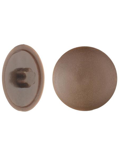 GECCO Abdeckkappe, TX20, PE, braun, Ø 12 mm, 50 St.