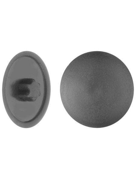 GECCO Abdeckkappe, TX20, PE, schwarz, Ø 12 mm, 50 St.