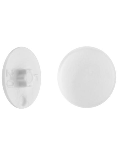 GECCO Abdeckkappe, TX20, PE, weiß, Ø 12 mm, 50 St.