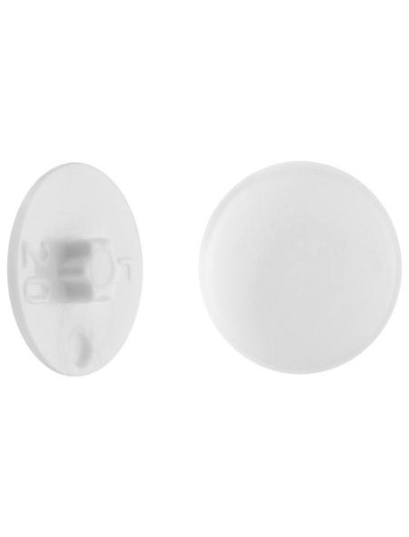 GECCO Abdeckkappe, TX30, PE, weiß, Ø 12 mm, 50 St.