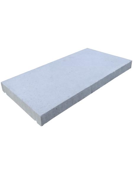 Abdeckplatte, LxBxH: 50 x 25 x 4 cm, Beton