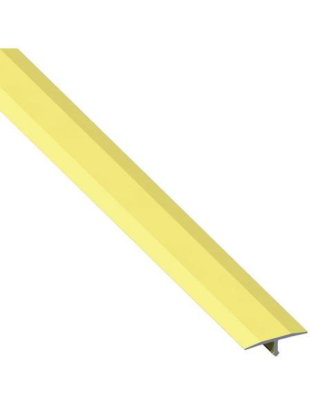 alfer® aluminium Abdeckprofil, BxHxL: 1.4 x 0.6 x 100cm, Aluminium