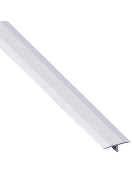 alfer® aluminium Abdeckprofil, BxHxL: 2.5 x 0.6 x 100cm, Aluminium