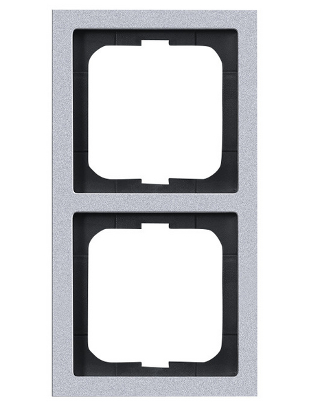 BUSCH-JAEGER Abdeckrahmen, Future® linear, 2-fach, Silber/Aluminium, Kunststoff