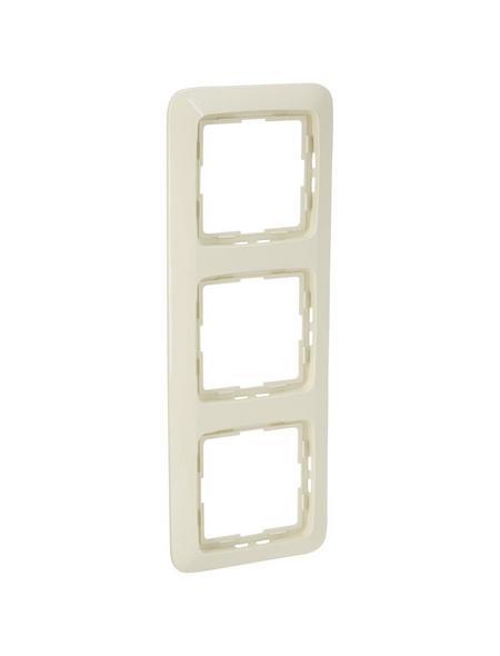 KOPP Abdeckrahmen »RIVO«, 3-fach, cremeweiß, für Lichtschalter, Steckdosen
