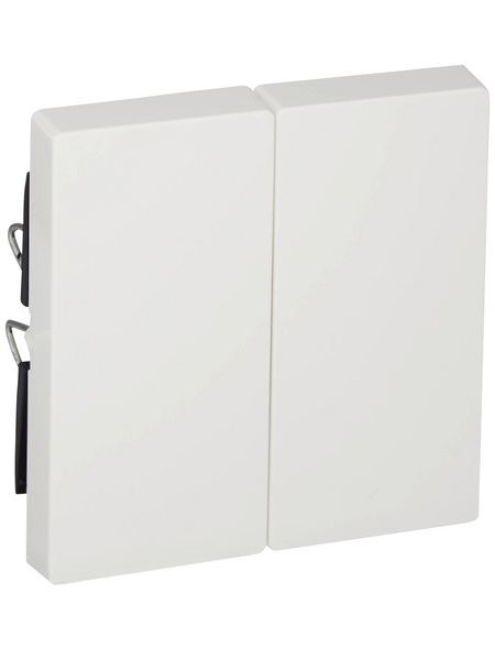 merten Abdeckung, System M, 2-fach, Polarweiß, Kunststoff