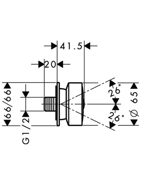 HANSGROHE Abhängung »Universal«, Vanadin-Elektrostahl
