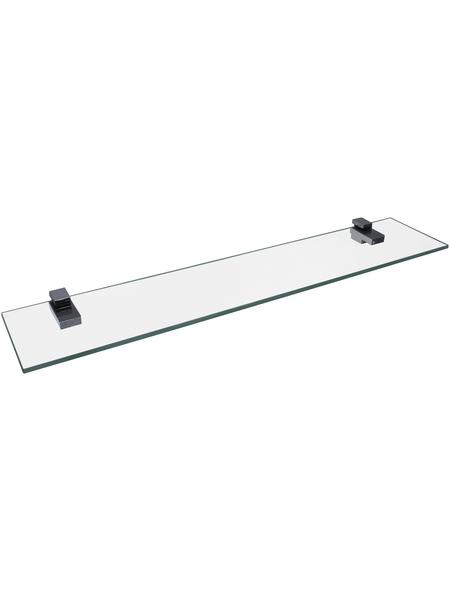 FACKELMANN Ablage, BxH: 61 x 0,6 cm, Glas/Metall