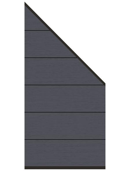 TraumGarten Abschlusselement »System XL«, WPC, LxH: 91 x 183 cm